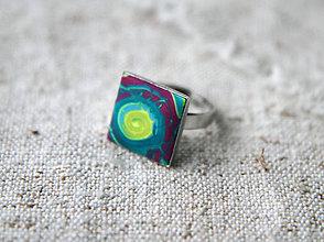 Prstene - štvorček limetka - 6152445_