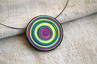 Náhrdelníky - farebné limetkové - 6152453_