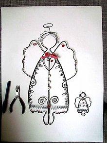 Dekorácie - polmetrový anjel - 6150179_