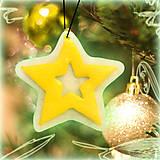 - Svietiaca vianočná dekorácia - hviezdička - 6152817_