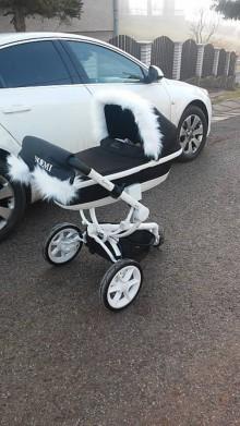 Textil - Snehobiela luxusná súprava na Váš kočík - 6157017_