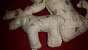 Dekorácie - Smotanovo  zlaté ozdoby na stromček mix - 6156822_