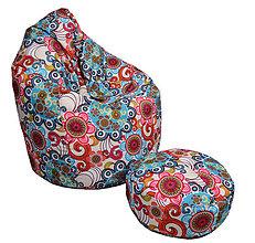 Nábytok - Dizajnový sedací vak TAKOY 2XL+podnožka zdarma poťah 475 - 6156247_