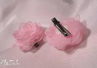 Ozdoby do vlasov - ružové sponky do vláskov - 6155078_