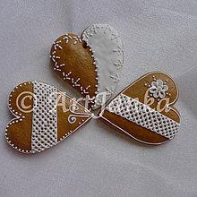 Dekorácie - Medovníkové srdce - 6154151_