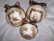 Dekorácie - Vianočné gule Zima - 6156239_