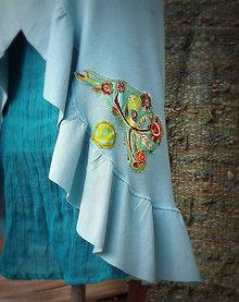 Tehotenské oblečenie - ...ptačí nebe...:aneb vzpomínka na léto...:-) - 6153719_