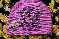 Čiapky - ruženka fialová - 6153303_