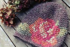 Čiapky - ruženka zimná hnedá - 6153346_