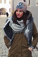 Čiapky - ruženka zimná béžová - 6153360_