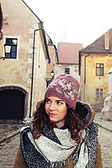 Čiapky - ruženka zimná staroružová - 6153388_