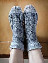 Obuv - Ponožky s kvietkom - 6154126_