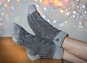 Obuv - Ponožky s kvietkom - 6154125_