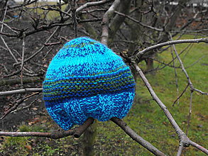 Čiapky - Čiapka- Pásikavá modrá - 6156802_