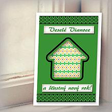 Papiernictvo - Folk vianočná pohľadnica 100% autorská tvorba - 6153256_