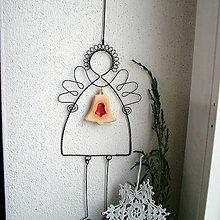 Dekorácie - anjel s lineckým zvončekom - 6157848_