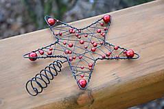 Dekorácie - Špička na vánoční stromeček. - 6160044_