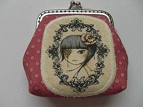 Peňaženky - Minipeňaženka staroružová - 6158060_