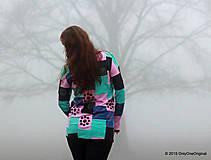 Tričká - Dámske patchworkové tričko maľované MÄTOVÁ HMLA - 6158171_