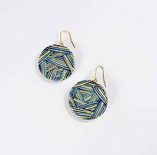 Náušnice - Tana šperky - keramika/zlato - 6157881_