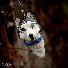Kľúčenky - Sibírsky husky - prívesok podľa fotografie - 6159100_