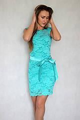 Šaty - Koktejlové šaty z elastickej krajky rôzne farby - 6158554_
