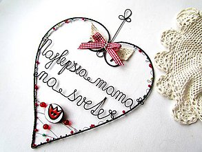 Dekorácie - ♥ pre mamu 27 cm - 6159009_
