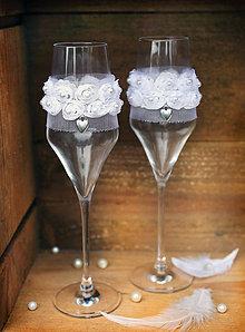 Nádoby - Luxusné svadobné poháre - 6161497_