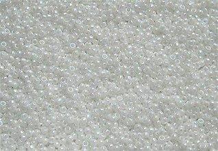 Korálky - Toho Round TR-15-401 Opaque-Rainbow White 15/0, bal.5g - 6159498_