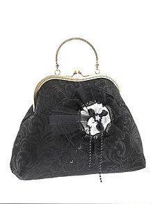 Kabelky - Spoločenská kabelka dámská čierná  10B - 6165714_