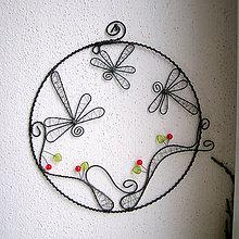Dekorácie - vážky v kruhu 17cm - 6163130_