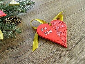 Dekorácie - PF - srdce pre šťastie - 6164451_