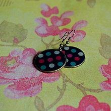 Náušnice - Polychromatic Dots- náušnice 25 mm - 6163077_