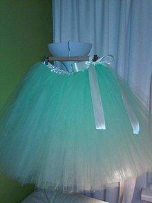 a04bd6ede1ce Detské oblečenie - Mentolová dlhá tutu tylová suknička pre väčšie slečny -  6165344