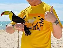 Oblečenie - Afrika pánske tričko - 6164413_