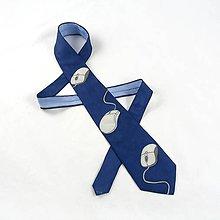 Doplnky - Počítačová kravata - modrá - 6162695_