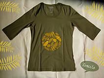 Tričká - Zlatistý listový kruh... - 6168243_