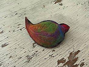 Odznaky/Brošne - Červený zobáčik - 6169518_