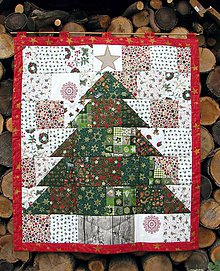 Dekorácie - Stromček - patchwork - 6166943_