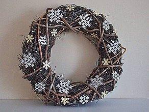 Dekorácie - Venček Sneží! - 6166703_
