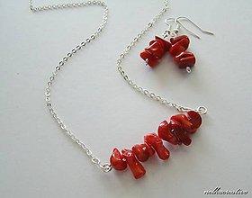 Sady šperkov - Jednoduchá elegancia.../koral/ - 6170057_