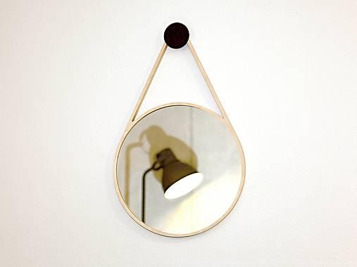Marc Drop Mirror - drevené nástenné zrkadlo
