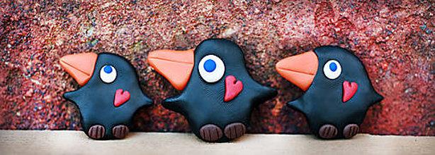 Magnetky - Zamilovaný vtáčik - magnetka - 6169819_