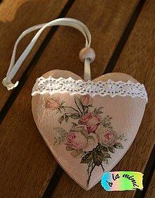 Dekorácie - Drevený Ružový vintage - 6174469_