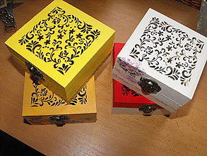 Krabičky - Malé krabičky s výrezom - 6172784_