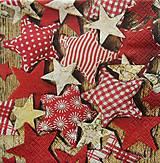 Papier - S552 - Servítky - hviezdičky, hviezda, vianoce - 6172368_