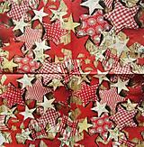 Papier - S552 - Servítky - hviezdičky, hviezda, vianoce - 6172369_