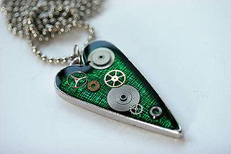 Náhrdelníky - Green Love - O.O.A.K. - 6172463_