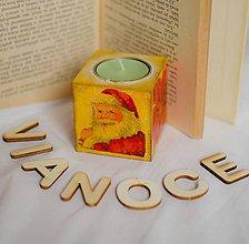 Svietidlá a sviečky - Vintage  Vianočný svietnik - 6173929_