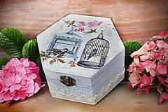 Krabičky - Shabby chic krabička - 6174915_
